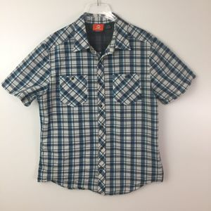 Merrell Spyker Short Sleeve Button Up Shirt Sz. L
